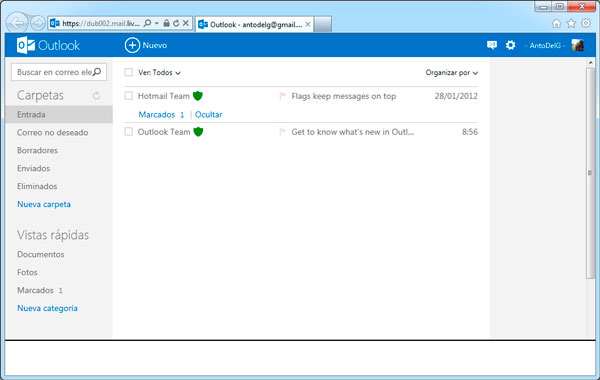 Microsoft lanza Outlook.com, su nuevo servicio de correo electrónico, Imagen 2