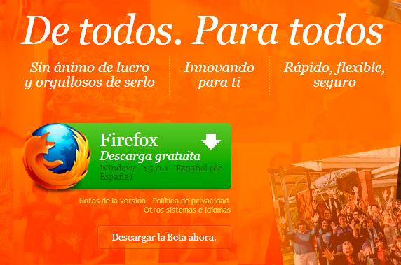 Mozilla retira Firefox 16.0 por una vulnerabilidad detectada, Imagen 1