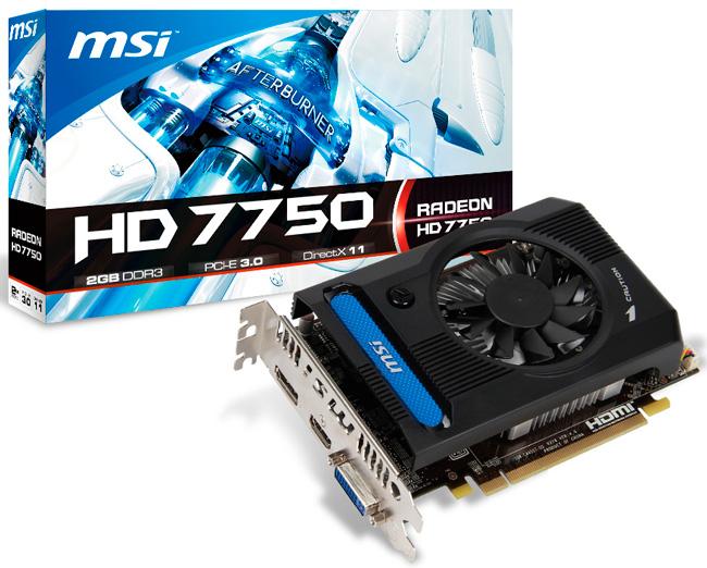 MSI presenta una HD 7750 con 2 GB de RAM, Imagen 1