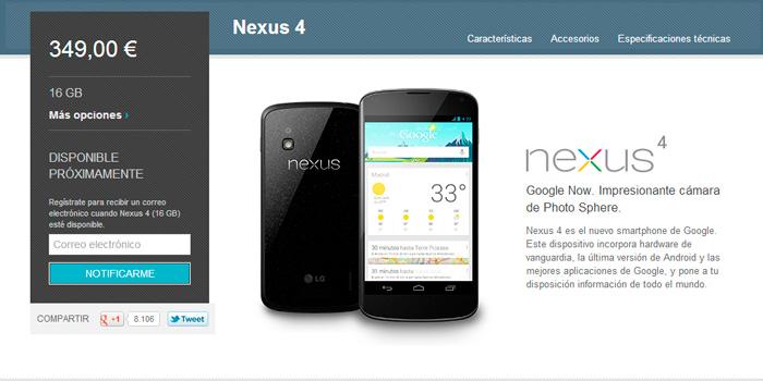 Salen a la venta los nuevos nexus 4 y nexus 10 de Google, Imagen 1