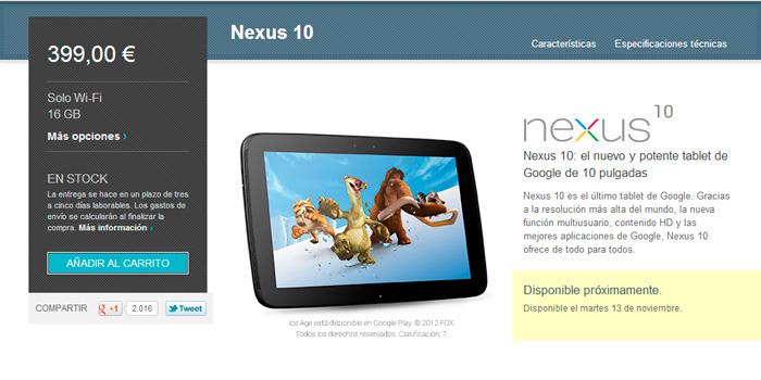 Salen a la venta los nuevos nexus 4 y nexus 10 de Google, Imagen 2