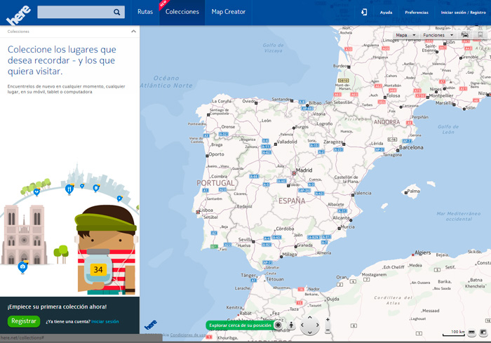 Nokia Here, servicio de mapas gratuito, Imagen 1