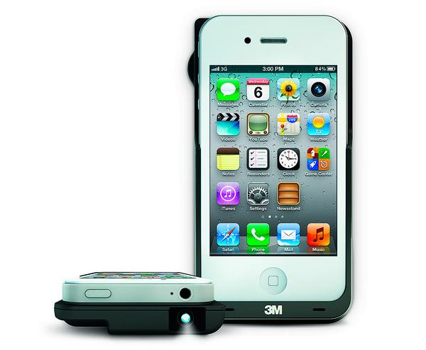 3M presenta un proyector integrado en una carcasa de iPhone, Imagen 1
