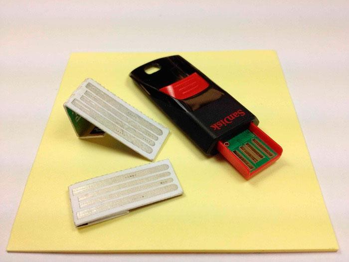 IntelliPaper, memorias USB de papel, Imagen 1