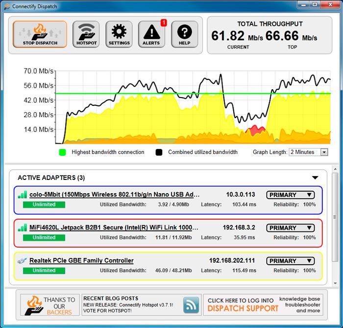 Connectify Dispatch, combina todas las conexiones disponibles en una sola, Imagen 1