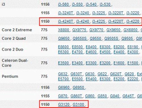Filtrados los nombres de los procesadores Intel Haswell para el nuevo socket LGA 1150, Imagen 2