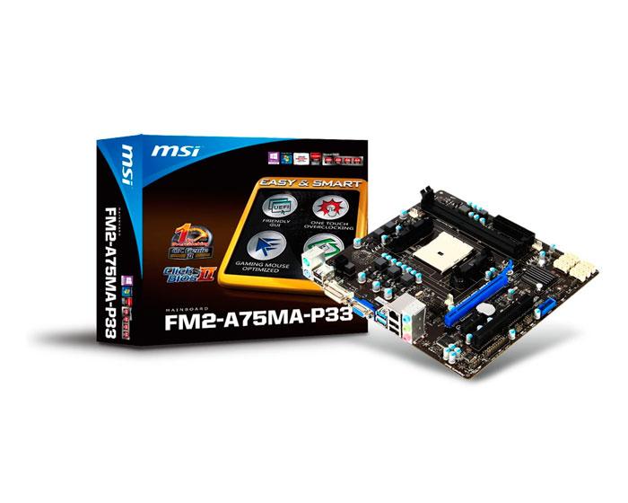 MSI FM2-A75MA-P33, nueva placa para APUs AMD Trinity, Imagen 1