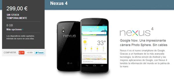 El Nexus 4 de Google vuelve a salir a la venta en España, Imagen 1