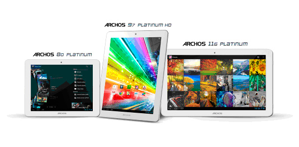 Archos presenta su nueva gama de tablets Platinum, Imagen 2