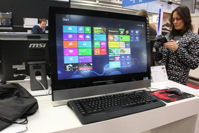 CeBIT 2013. MSI Wind Top AF2712, todo en uno gaming, Imagen 2