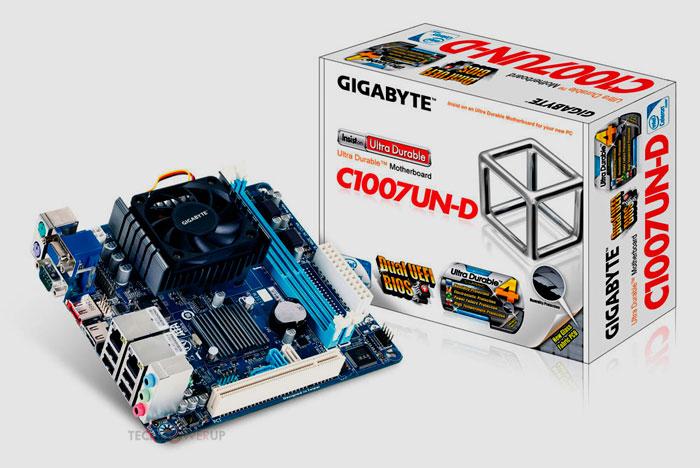 Gigabyte C1007UN-D nueva placa base con CPU integrada, Imagen 1