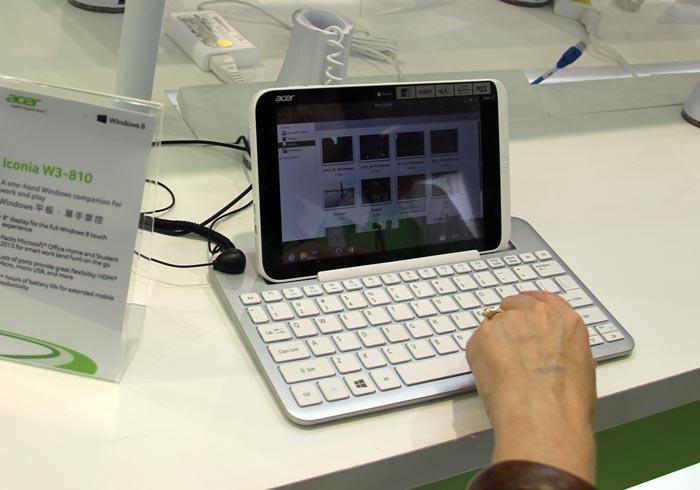 Computex 2013. ACER. Iconia W3, tablet de 8 pulgadas con Windows 8 de escritorio, Imagen 2