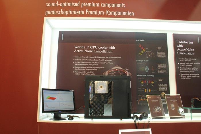 Computex 2013. Noctua. Disipador de CPU con cancelación activa de ruido, Imagen 1