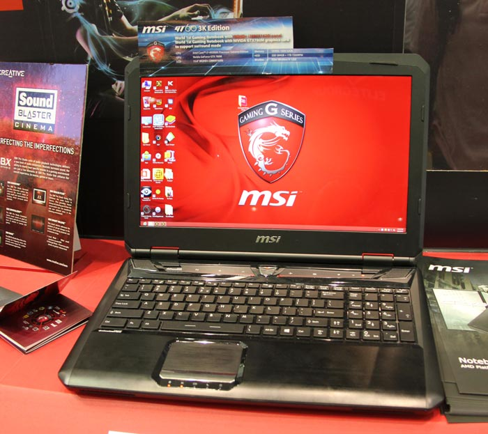 Computex 2013. MSI. GT60 3K Edition. Portátil gaming de alta resolución, Imagen 1