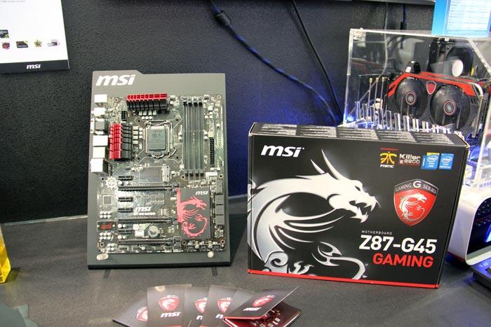 Computex 2013. MSI. Z87-G45 Gaming, placa base para jugadores, Imagen 2
