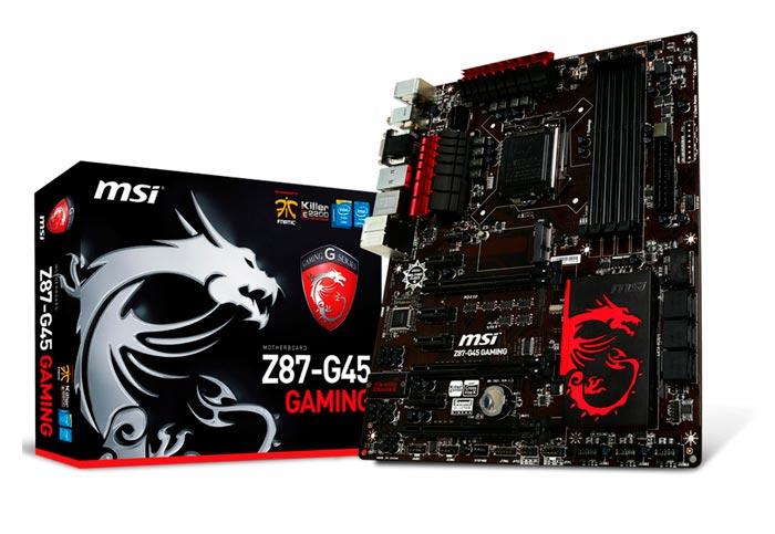 Computex 2013. MSI. Z87-G45 Gaming, placa base para jugadores, Imagen 1