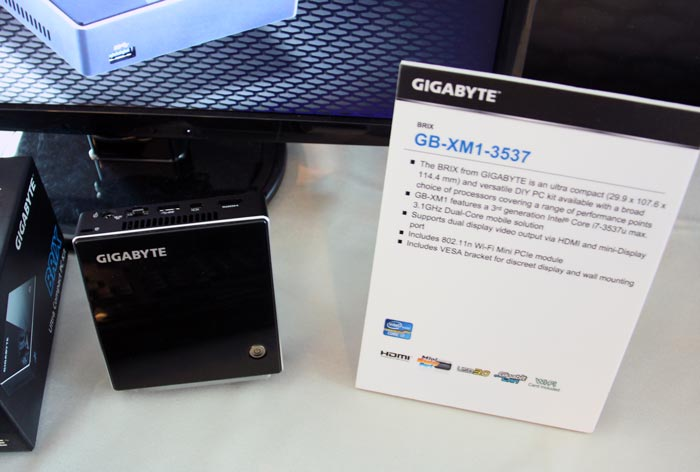 Computex 2013. Gigabyte. BRIX GB-XM1-3537, el NUC propio de la compañía, Imagen 1