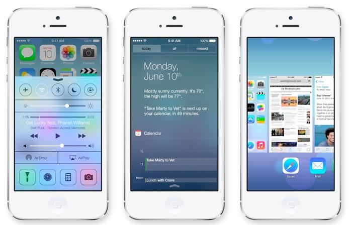 Llega iOS 7 para los dispositivos móviles de Apple más recientes, Imagen 1