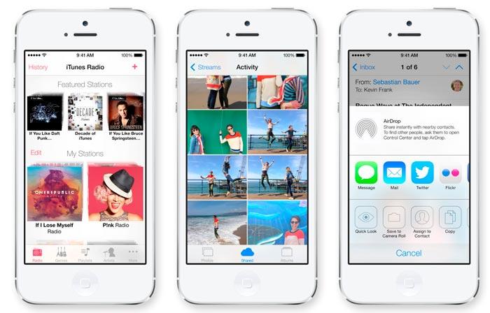 Llega iOS 7 para los dispositivos móviles de Apple más recientes, Imagen 2