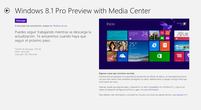 Ya disponible Windows 8.1 Preview de manera pública, Imagen 1