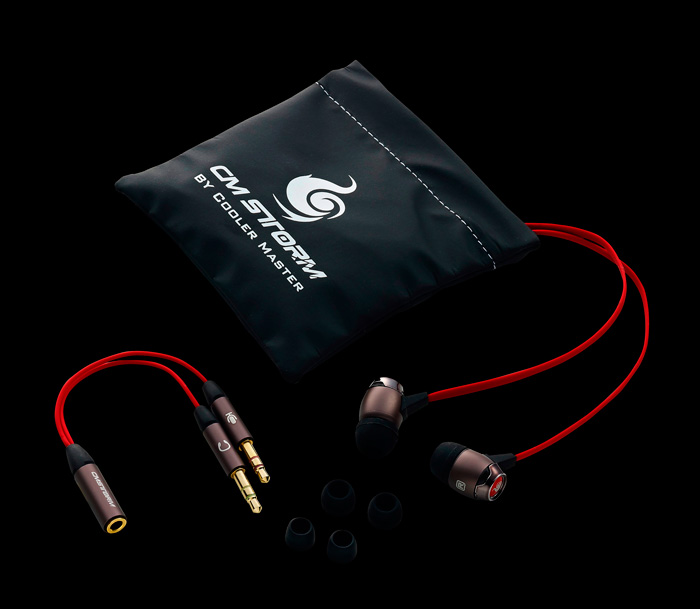 Cooler Master Storm Pitch, nuevos auriculares gaming in-ear, Imagen 1