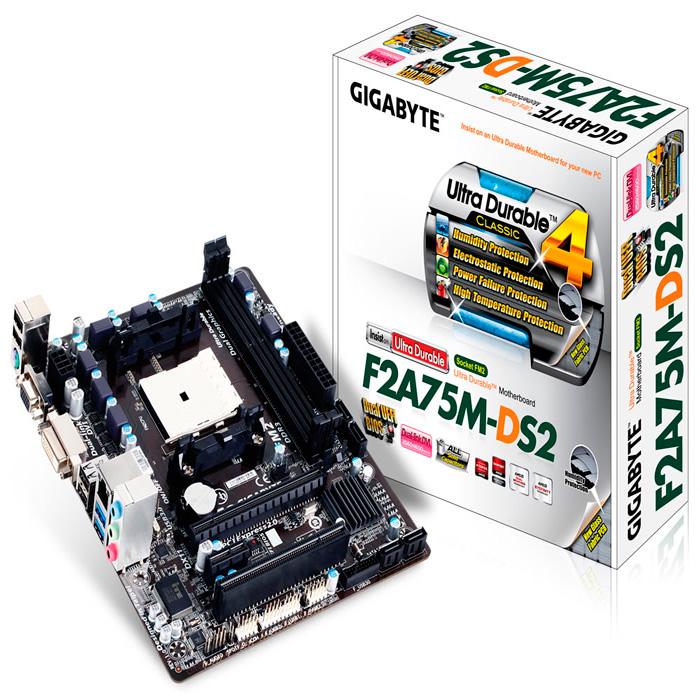 Gigabyte F2A75M-DS2, nueva placa microATX económica para socket FM2 de AMD, Imagen 1