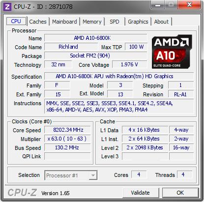 Nuevo record de overlock para la APU AMD A10-6800K llegando a los 8.2 GHz, Imagen 2