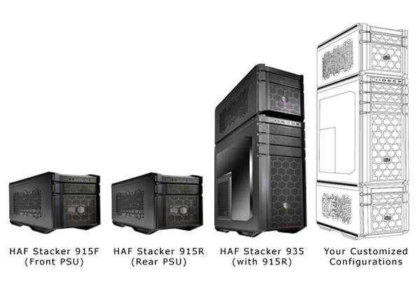 Cooler Master presenta la familia de torres modulares HAF Stacker, Imagen 1