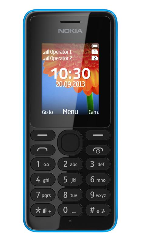 Nokia 108, un teléfono móvil sencillo por 29 Dólares, Imagen 2