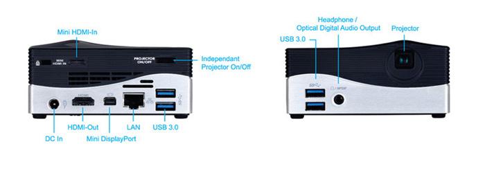 Gigabyte BRIX Projector, curioso mini PC con proyector incorporado, Imagen 2