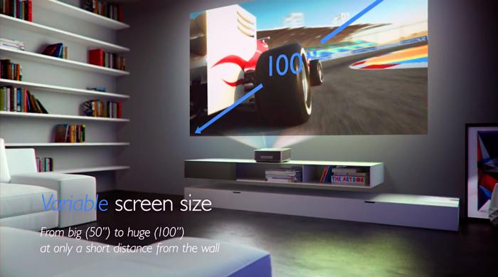 Philips presenta un proyector para utilizar a corta distancia, Imagen 1