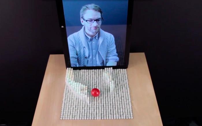 inFORM, superficie que representa físicamente a tiempo real modelos virtuales , Imagen 1