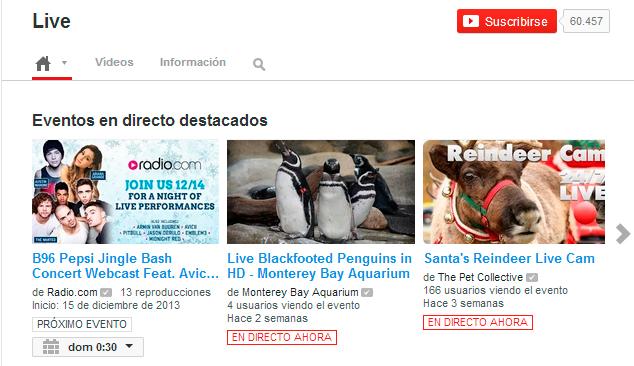 Youtube libera el servicio de streaming a todos los usuarios verificados, Imagen 1