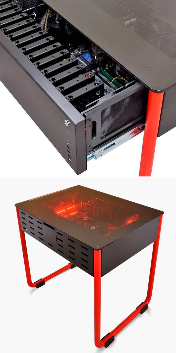 Lian Li DK01, curiosa torre de PC integrada en una mesa, Imagen 3