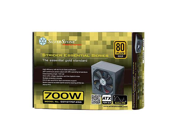 SilverStone Strider Essential Gold, nuevas fuentes de alta eficiencia energética, Imagen 1
