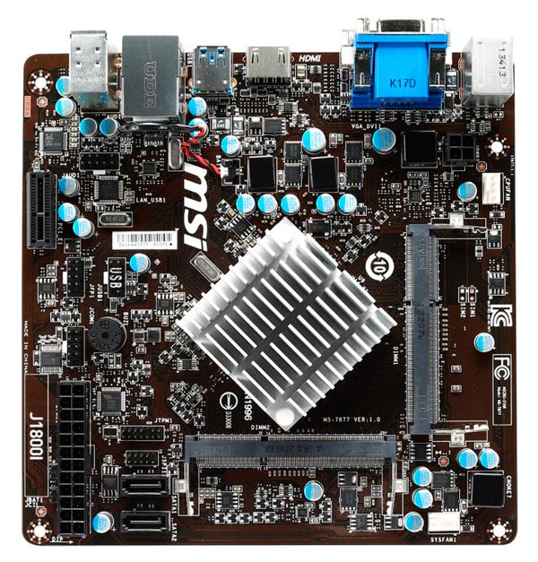 MSI también tiene su propia placa Mini-ITX con SoC J1800, Imagen 2