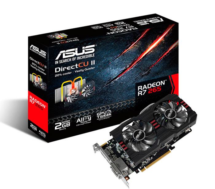 ASUS ya tiene lista su Radeon R7 265 con disipador Direct CU II, Imagen 1