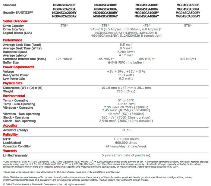 Toshiba ya tiene listos los primeros discos duros de 5 TeraBytes, Imagen 2