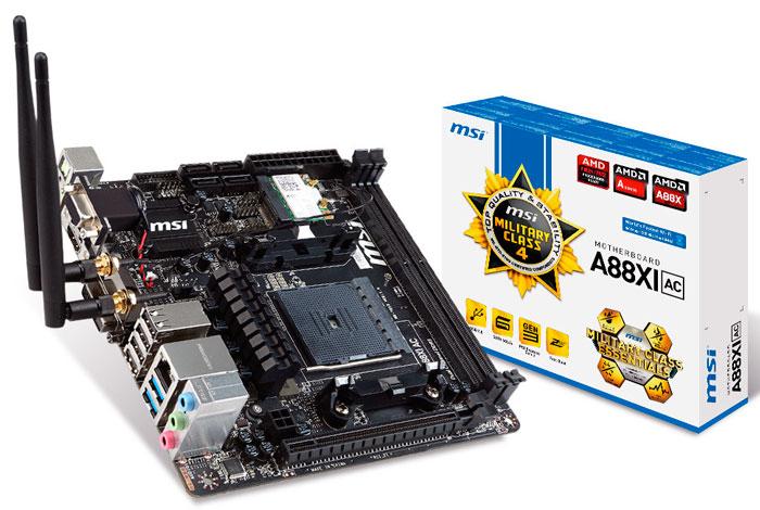 MSI A88XI AC, nueva placa base Mini-ITX para las APU Kaveri de AMD, Imagen 1