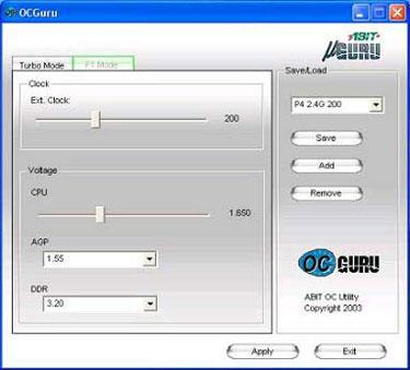 Nuevo software OC Guru de ABIT, Imagen 1