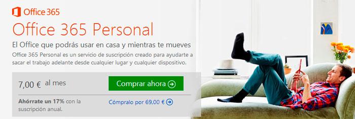 Microsoft lanza la versión más económica de su suite Office 365 Personal , Imagen 1
