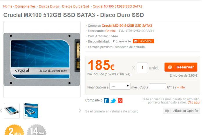 Ya conocemos especificaciones y precios de los SSD Crucial MX100 fabricados a 16 nm, Imagen 3