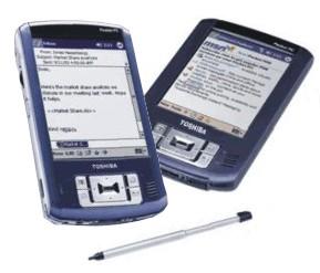 Toshiba PocketPC e400 y e800, Imagen 1