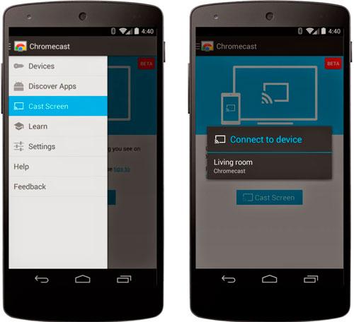 Google ya permite mostrar la pantalla del móvil en la TV con Chromecast, Imagen 2