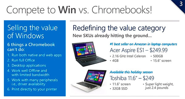 Microsoft anuncia portátiles con Windows por menos de 200 Dólares , Imagen 1