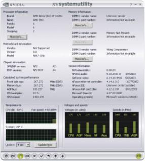 System Utility para overclocking con nVidia, Imagen 1