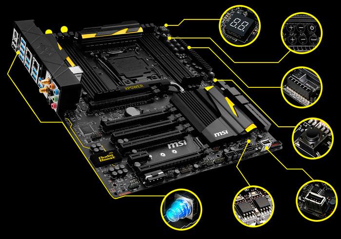 MSI presenta sus placas para overclock X99S XPOWER y MPOWER, Imagen 1