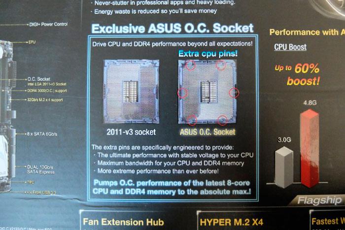 ASUS promete más overclock en sus placas x99 más exclusivas gracias a un socket LGA 2011-3 modificado, Imagen 3