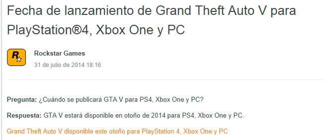 GTA V llegará a PC a finales de enero del 2015, Imagen 2
