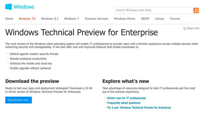 Se filtra el nombre de Windows TH para la próxima versión de Windows, Imagen 1